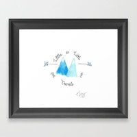 Travel Far Framed Art Print by Katie Cozzi