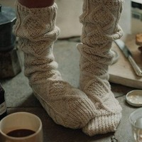 Cable Knit Socks - $50 | The Gadget Flow
