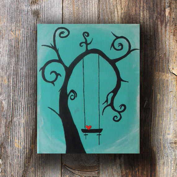 Tree Silhouette Art For Bedroom Tree From Artjunkiedoodle On