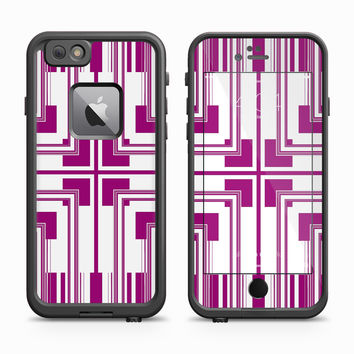 Purple Square Symmetry Skin for the Apple iPhone LifeProof Fre Case