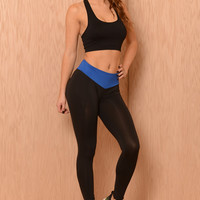 Blue Ribbon Ankle Legging