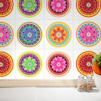 Mandalas Tiles Stickers - Tiles Decals - Tiles for Kitchen Backsplash or Bathroom - PACK OF 6 - SKU:MAATiles