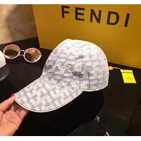 FENDI Newest Women Men Fashion Sunhat Embroidery Baseball Cap Hat
