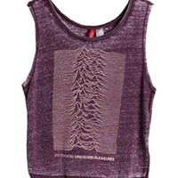 Pure Purple Tank with Printing and Dyeing