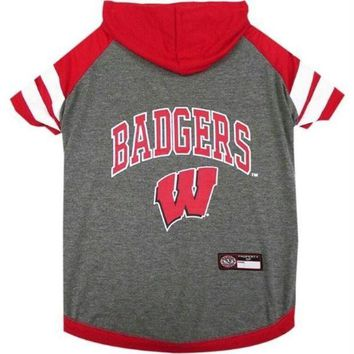 CUPUPHP Wisconsin Badgers Pet Hoodie T-Shirt