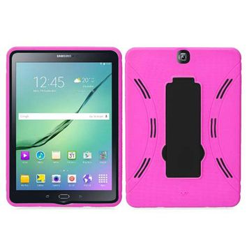 Samsung Galaxy Tab S2 9.7 Hybrid Silicone Case Cover Stand Pink