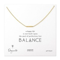 small bar necklace, gold dipped
