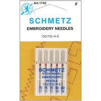 Embroidery Machine Needles, Schmetz, 1742, Craft Supply