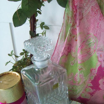 Fabulous Luminarc France cut Glass CRYSTAL~~ LIQUOR DECANTER~~