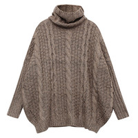 TURTLENECK OVERSIZE SWEATER