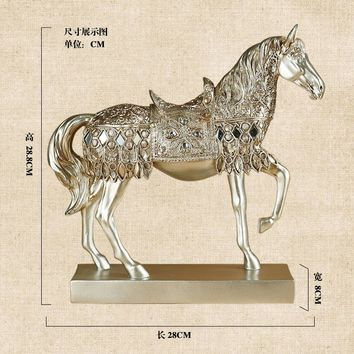 Horse statue,Home Furnishing ornaments,  figurine, living room, bar, furnishings, retro crafts, business gifts, decor, sculpture