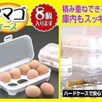 1 X Japanese Stackable Plastic Egg Storage Case #8012