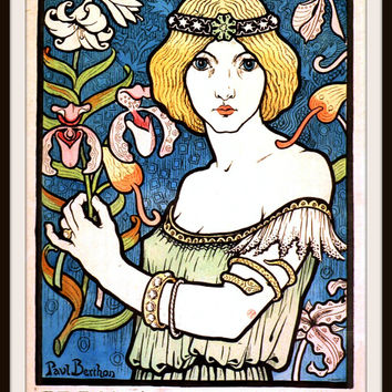 Vintage Poster Art Print  Art Nouveau Advertisement 8.5 x 11""