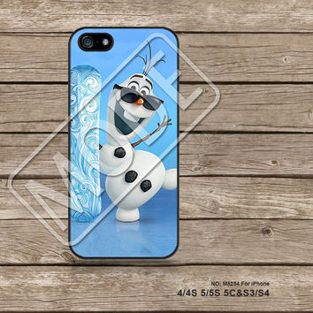 Disney Frozen olaf, iPhone5s Case, iPhone 4 case, iPhone 5C Case, iPhone5 Case, Samsung Galaxy s3, Galaxy s4, Phone Cases - M5254