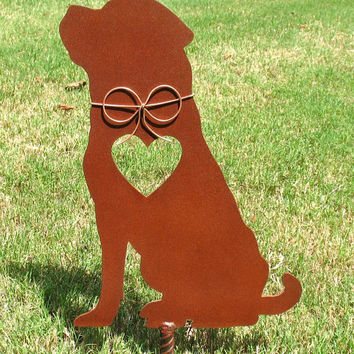 Rottweiler Dog Metal Garden Stake - Metal Yard Art - Metal Garden Art - Pet Memorial 2