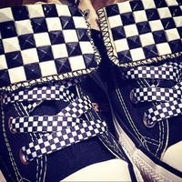 Custom Studded Checker Style Converse All Stars- Chuck Taylors! ALL SIZES & COLORS!