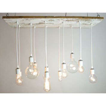 WHITE TEXAN BARNWOOD CHANDELIER | Edison Bulb, Industrial Lighting | UncommonGoods