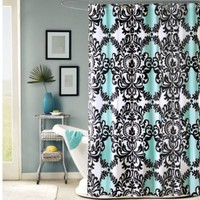 Mia 72-Inch x 72-Inch Fabric Shower Curtain