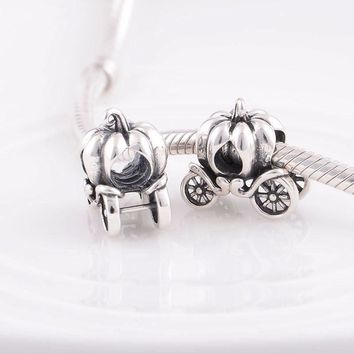 silver charm princess pumpkin fits pandora and european charm bracelets