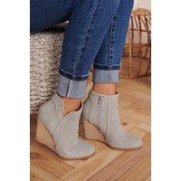 One Wish Wedge Booties (Grey)