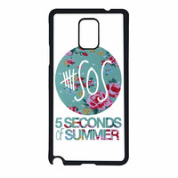 5 Seconds Of Summer Floral Pink Samsung Galaxy Note 4 Case