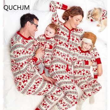 Family Set Outfits Christmas Pajamas Family Clothing Mother Daughter Father Son Toddler Pajamas Clothes Family Clothing Sets