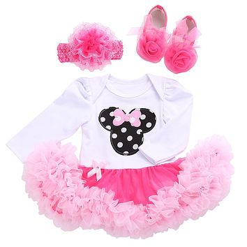 Adorable Baby Girl Onesuit Tutu Outfit Sets - Multiple Designs