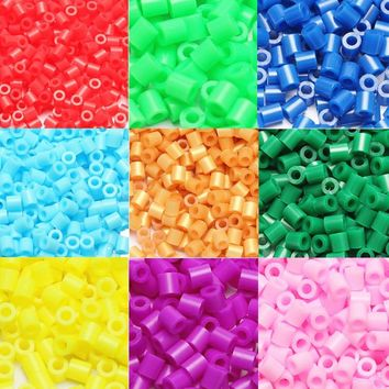 1000pcs EVA 5mm Hama Beads Toy DIY Mini Perler Beads Set Creative Educational Beads 3D Puzzle Toys For Children