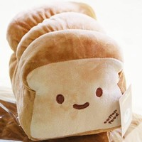 New Decorative Small ver. Dual Face Bread Plush Cushion Pillow 10""