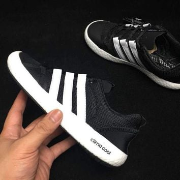 hcxx A305 Adidas Clima Cool Boat Lace Graphic Boost Breathable Running Shoes Black