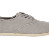 Light Grey Linen Men's Cordones US 8
