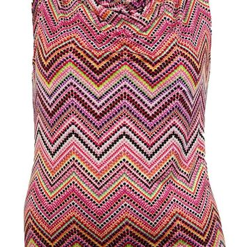 Tahari Women's Chevron Printed Blouse