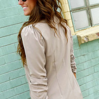Light-Mocha Blazer | The Rage