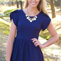 Always Polished Navy Dress