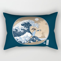 The Great Wave of Republic City Rectangular Pillow by adho1982