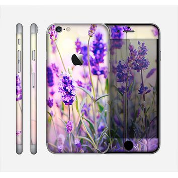 The Lavender Flower Bed Skin for the Apple iPhone 6
