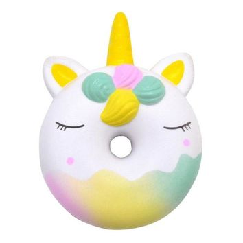 Cute Unicorn Donut Squishy Cake Bread Squishies Cream Scented Slow Rising Squeeze Toy Children Gift