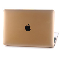"""Colorful Rubberized Matte Hard Case Cut out Cover for Macbook AIR  13"""" PRO 13"""" 15"""" Retina 12"""" 13"""" 15"""" -Gold"""
