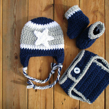 Baby Dallas Cowboys Football Outfit Newborn Baby Photo Prop
