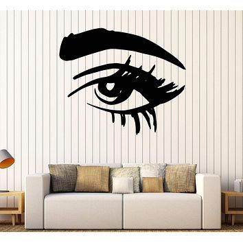 Wall Vinyl Decal Beautiful Eye Eyelashes Makeup Beauty Salon Home Decor Unique Gift z4619