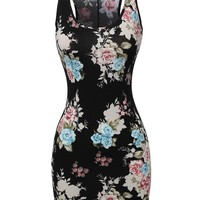 Women's Sleeveless Floral printed Mini Dress