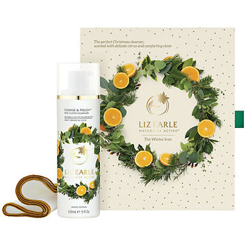 Buy Liz Earle The Winter Icon Cleanse & Polish™ Hot Cloth Cleanser Sweet Orange & Clove Skincare Gift Set | John Lewis