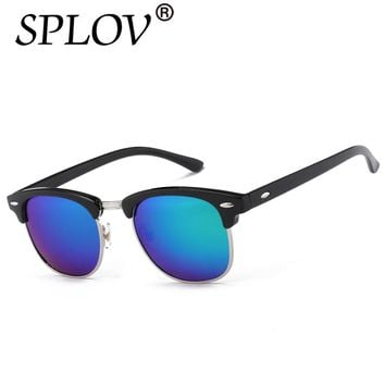 Half Metal High Quality Sunglasses Men Women Brand Designer Glasses Mirror Sun Glasses Fashion Gafas Oculos De Sol UV400 Classic