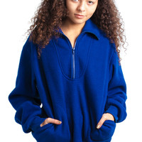 Vintage 90's Dreamy AF Blue Fleece Pullover - One Size Fits Many
