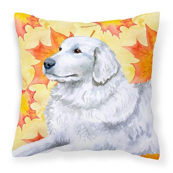 Maremma Sheepdog Fall Fabric Decorative Pillow BB9936PW1414