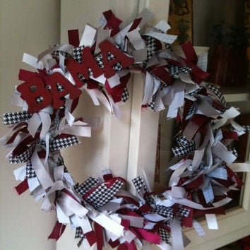 University of Alabama Ribbon Wreath - Roll Tide