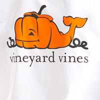 Long-Sleeve Pumpkin Whale Pocket Tee
