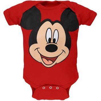 DCCK8UT Mickey Mouse Face Baby One Piece