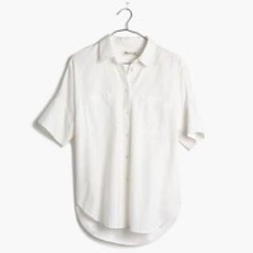 White Cotton Courier Shirt : shopmadewell white shirts | Madewell