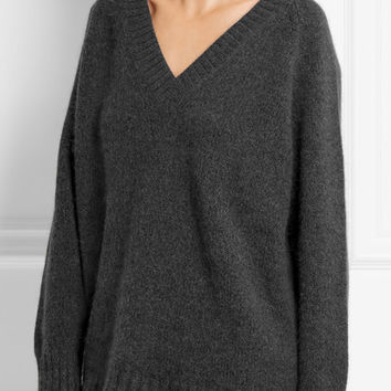 Prada - Oversized angora-blend sweater